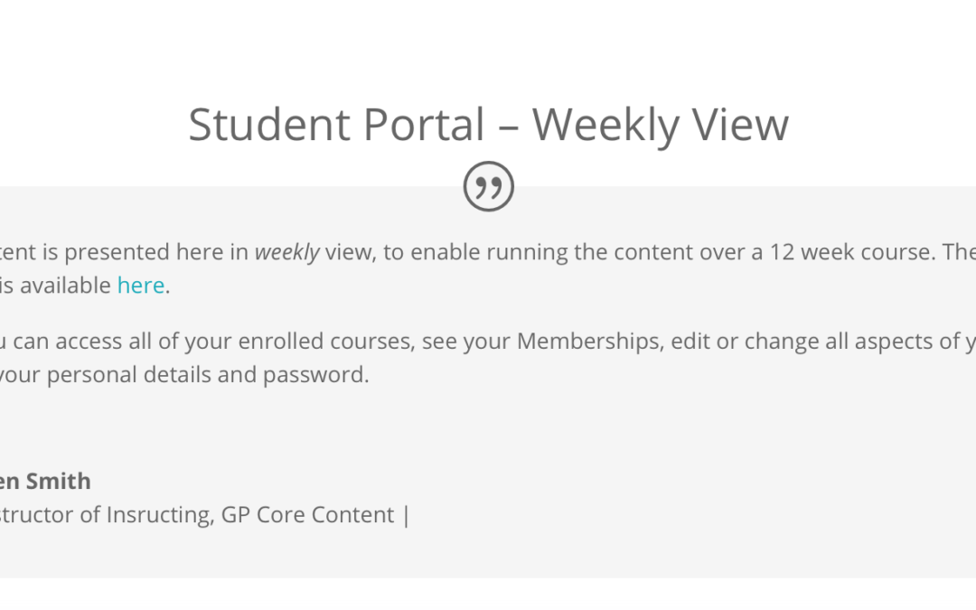 Updated Student Portal